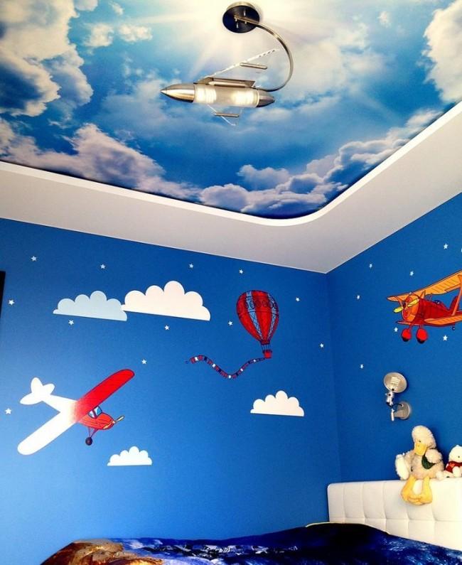 Натяжные потолки в детской комнате (63 фото): виды и особенности выбора
