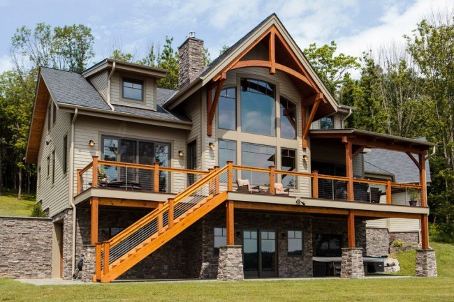Прекрасный каркасный дом