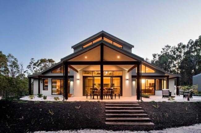 Каркасный дом в современном стиле