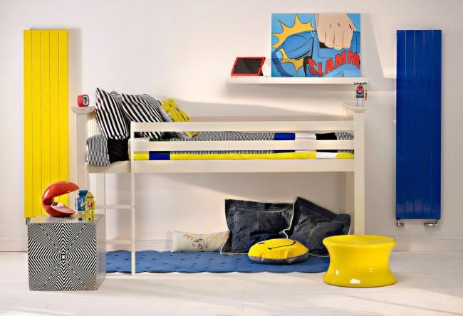 Детская комната с яркими биметаллическими радиаторами