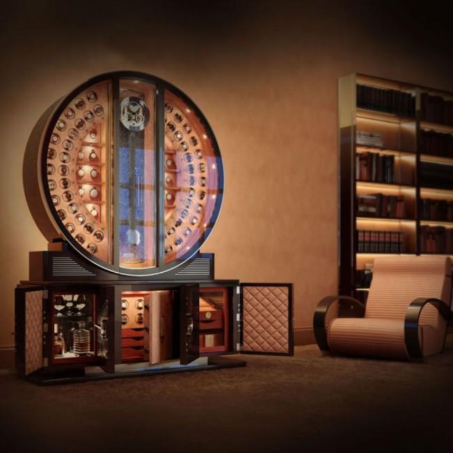 Роскошный напольный сейф будет хорошо смотреться в классическом интерьере