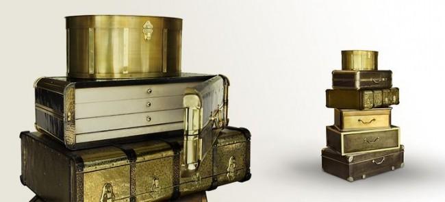 Интересный сейф, стилизованный под винтажный чемодан