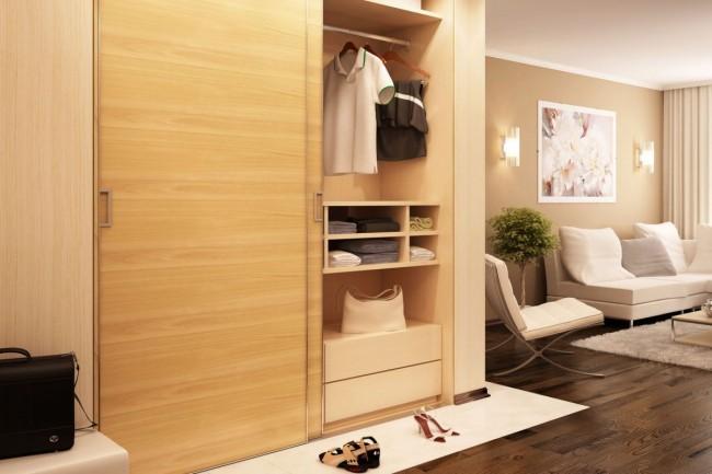 Стильный фасад шкафа из светлого дерева