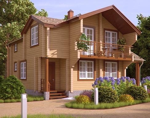 Деревянные дома из профилированного бруса. Рис. 7. Фасад здания