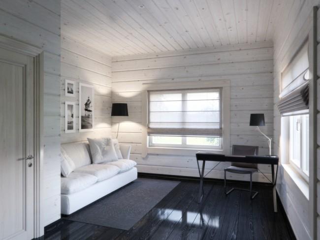 Деревянные дома из профилированного бруса. Интерьер дома из деревянного бруса эстетичен при минимальной отделке, так как дерево - само по себе декоративный материал