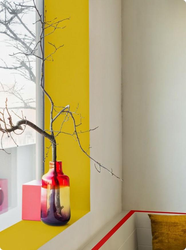 Масляные краски вполне можно использовать в помещении для акцентного окрашивания поверхностей небольшой площади