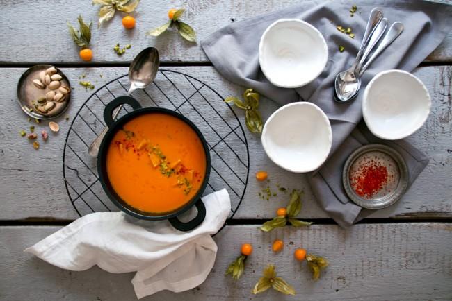 Крем - суп из овощного физиалиса