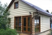 Фото 5 Виниловый сайдинг под бревно (36 фото и цены): эффектный внешний вид загородного дома