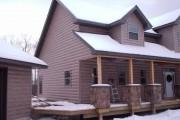 Фото 19 Виниловый сайдинг под бревно (36 фото и цены): эффектный внешний вид загородного дома