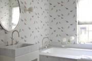 Обои для ванной комнаты (44 фото): опровергая стереотипы