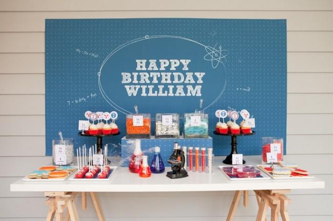 Научная тематика для детского дня рождения в наше время набирает полулярности