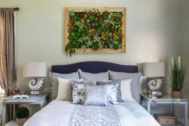 Элементы декора наполнят комнату природной свежестью.