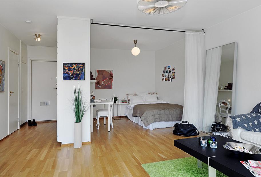 Ниша в однокомнатной квартире фото