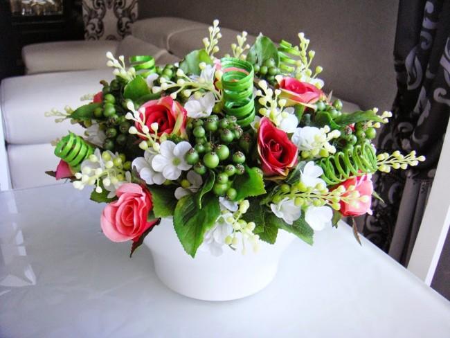 Букет из искусственных цветов своими руками фото 584