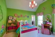 Фото 4 Обои для детской комнаты девочки: 44 интерьера, которые придутся по душе ребенку