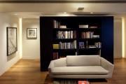 Фото 3 Стеллаж-перегородка для комнаты (40 фото): оригинально, функционально и ненавязчиво