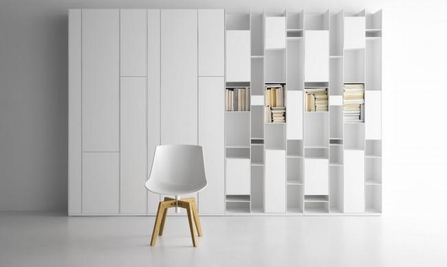 Книжные стенки хоть и требуют достаточно месте, смотрятся очень эффектно