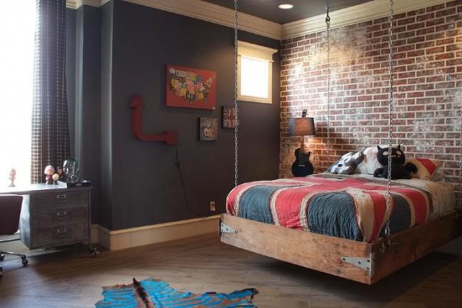 Подвесная кровать, придётся по душе подрастающему поколению.