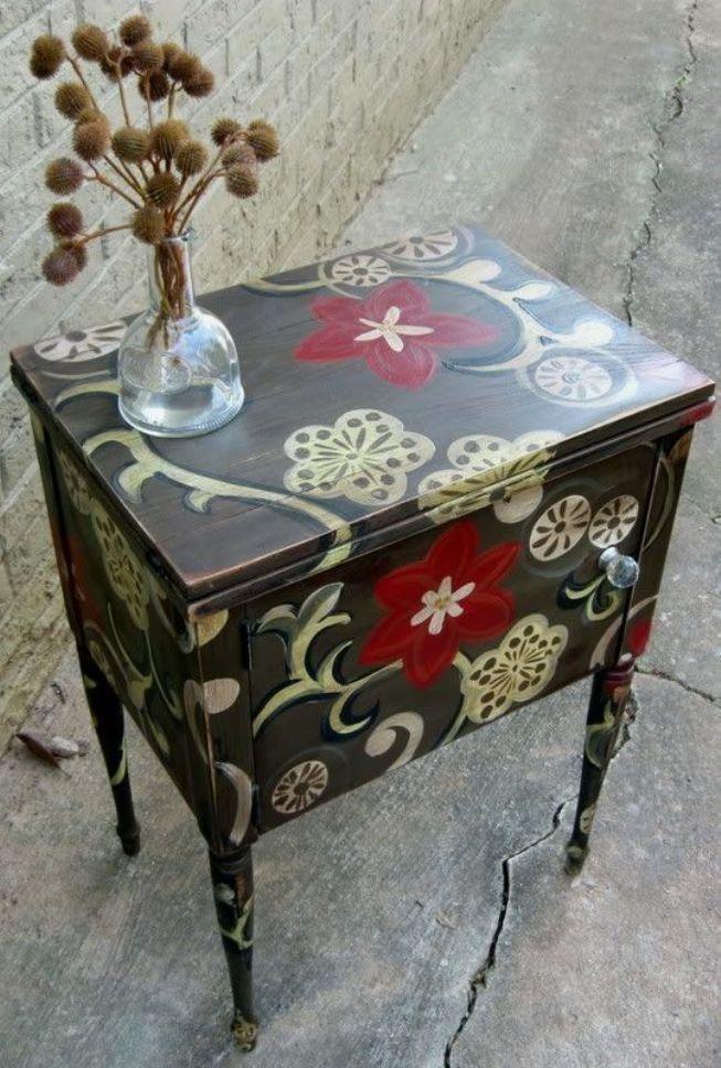 Роспись на мебели своими руками