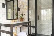 Фото 12 Черно-белая ванная комната (56 фото): шик и оригинальность в вашем доме