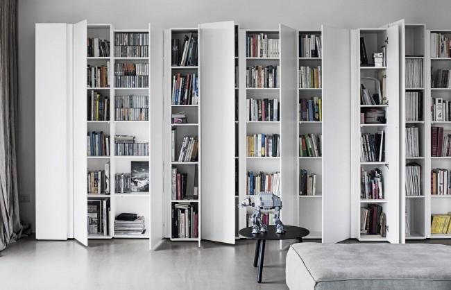 Закрытые шкафы уберегут книги от пыли, сырости и прямых солнечных лучей
