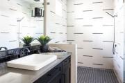 Фото 6 Черно-белая ванная комната (56 фото): шик и оригинальность в вашем доме