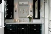 Фото 8 Черно-белая ванная комната (56 фото): шик и оригинальность в вашем доме