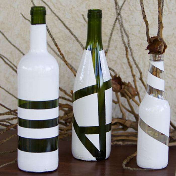 Декор стеклянных бутылок своими руками