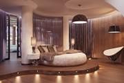 Фото 8 Натяжные потолки для спальни (40 фото): романтично, стильно и практично