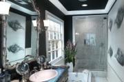 Фото 10 Черно-белая ванная комната (56 фото): шик и оригинальность в вашем доме