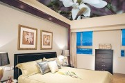 Фото 6 Натяжные потолки для спальни (40 фото): романтично, стильно и практично