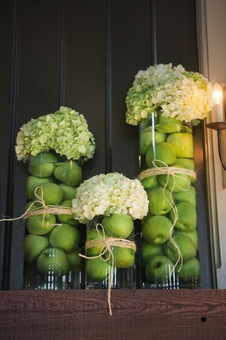 Как украсить напольную вазу фото