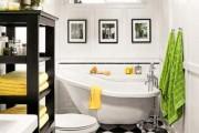 Фото 4 Черно-белая ванная комната (56 фото): шик и оригинальность в вашем доме
