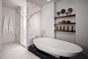 Фото 5 Дизайн белой ванной комнаты (75 фото): «чистая» гармония