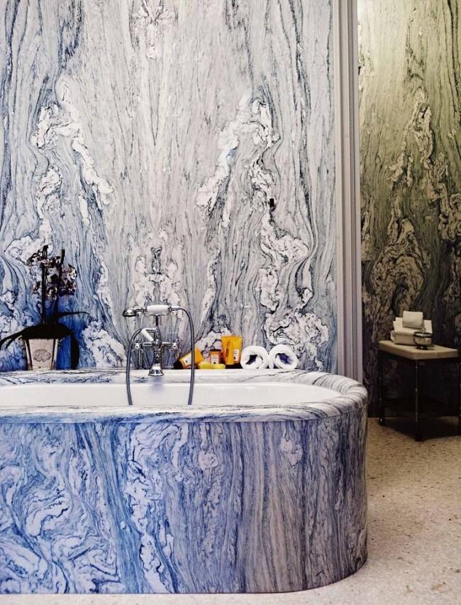Отделка акриловой ванны под мрамор