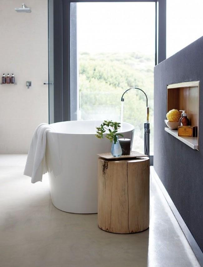 Компактная высокая акриловая ванна
