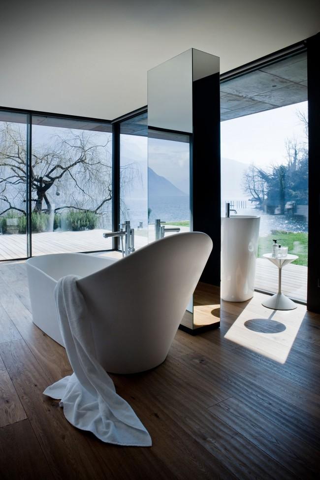 Акриловая ванна в современном интерьере