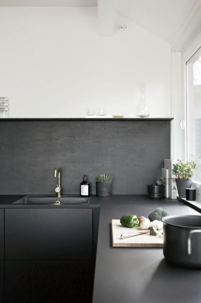 кухня низ серый верх белый фото