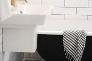 Фото 7 Дизайн белой ванной комнаты (75 фото): «чистая» гармония