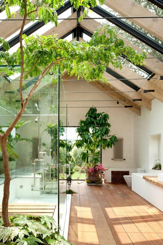 Чтобы создать ванную в стиле SPA, просто добавьте в ее интерьер больше живых растений, несколько плетеных или деревянных элементов
