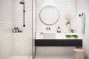 Фото 44 Дизайн белой ванной комнаты (75 фото): «чистая» гармония