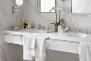 Фото 34 Дизайн белой ванной комнаты (75 фото): «чистая» гармония