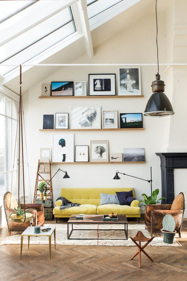 Ярко-желтый диван добавит нотку свежести в ваш интерьер