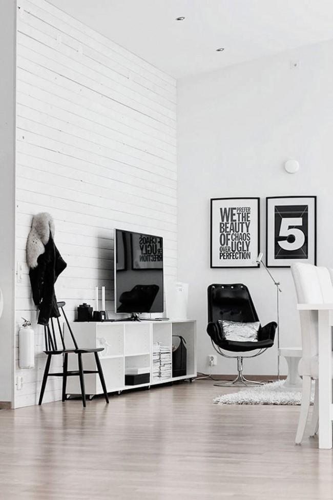 Стена, любящая общение, в современной гостиной