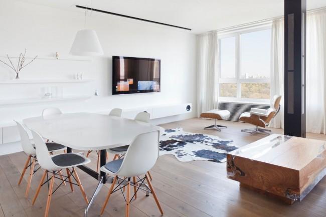 Столовая-гостиная в стиле минимализм