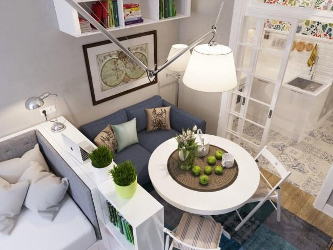 Шкаф-стеллаж поможет разграничить пространство