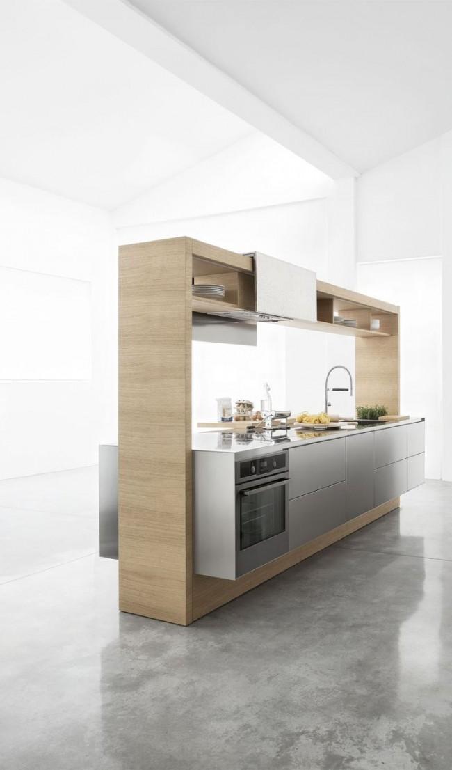Компактная и в то же время удобная современная кухня