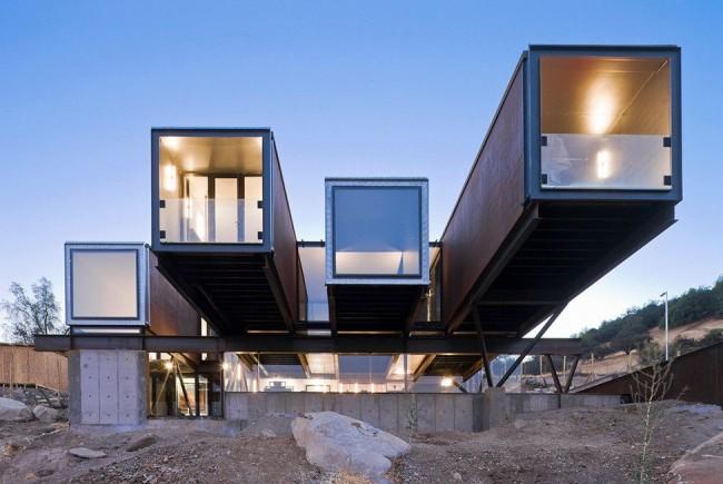 Модульный дом в стиле хай-тек