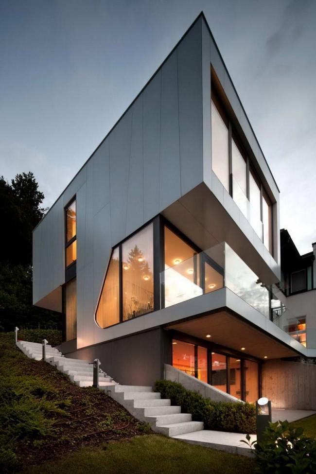 Геометрический хай-тек на современном этапе получило самое широкое распространение в архитектуре хай-тека