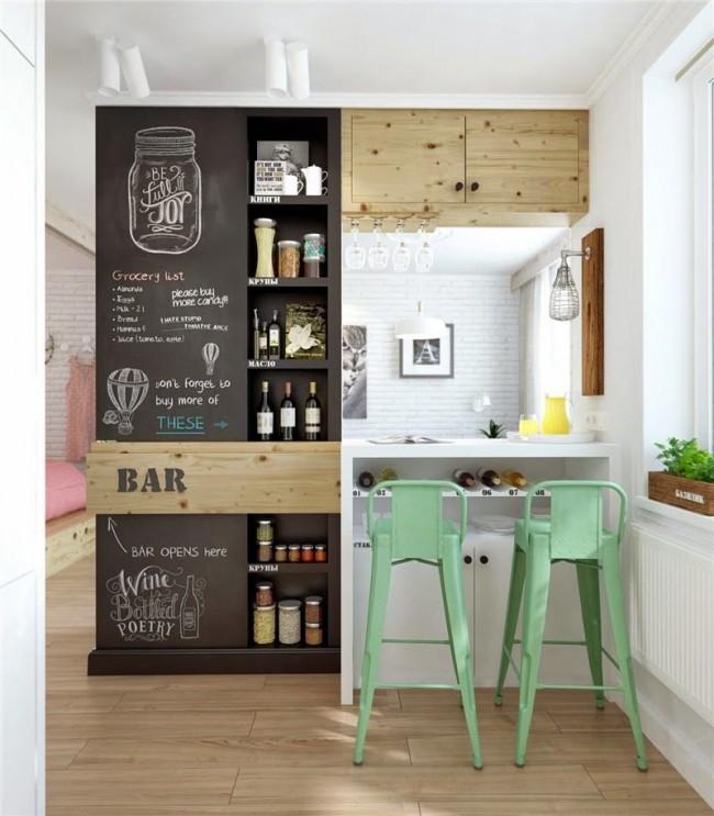 Оживите свою кухню при помощи грифельной доски или стены